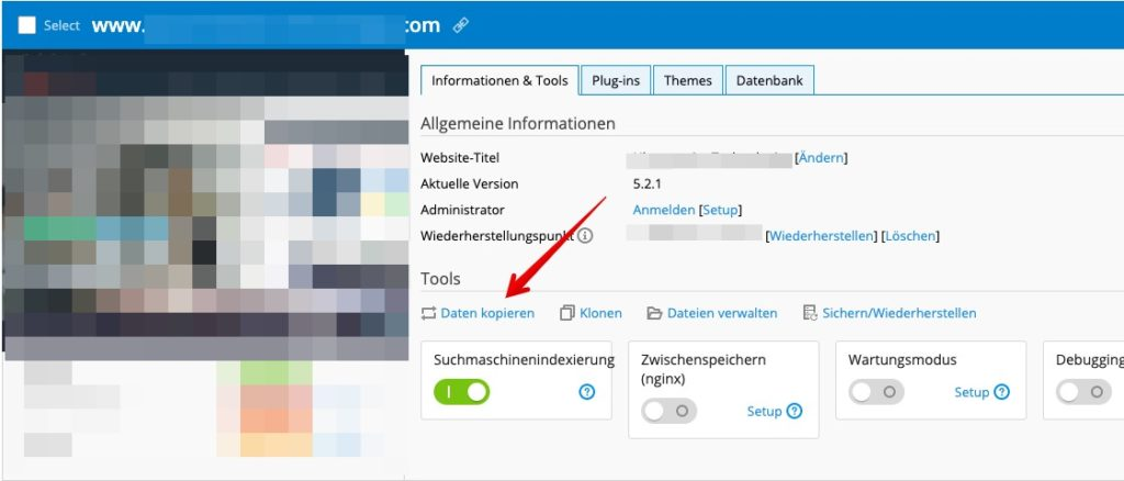 Screenshot: Das WordPress-Toolkit