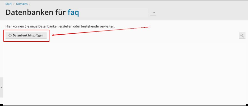 Screenshot: Datenbank erstellen
