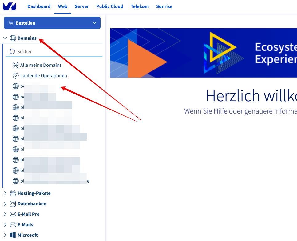 Screenshot: Das Kundencenter